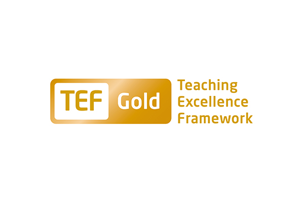 TEF Gold Teaching Excellence Framework logo