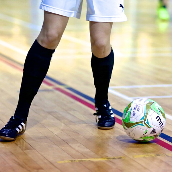 Futsal session in University sports hall