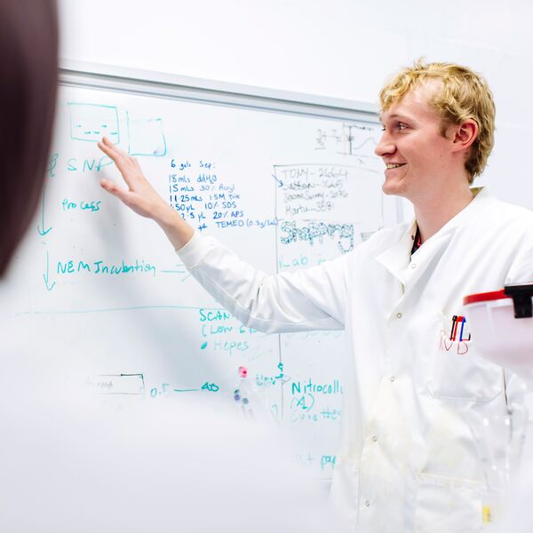 PhD student Robert Lawrence at University of Portsmouth