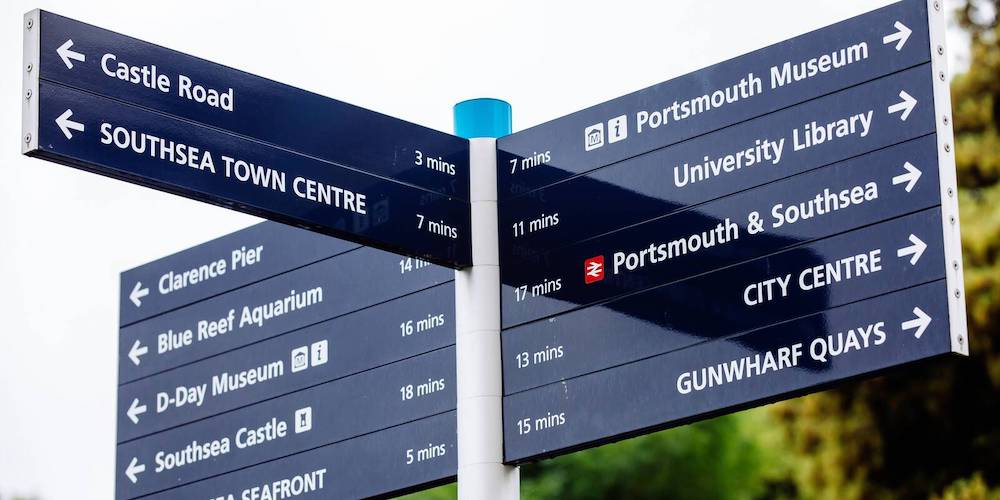 Portsmouth direction signs