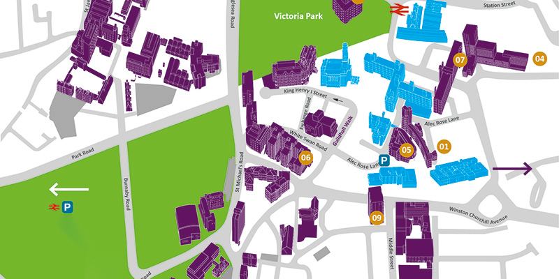 University of Portsmouth Quarter campus map