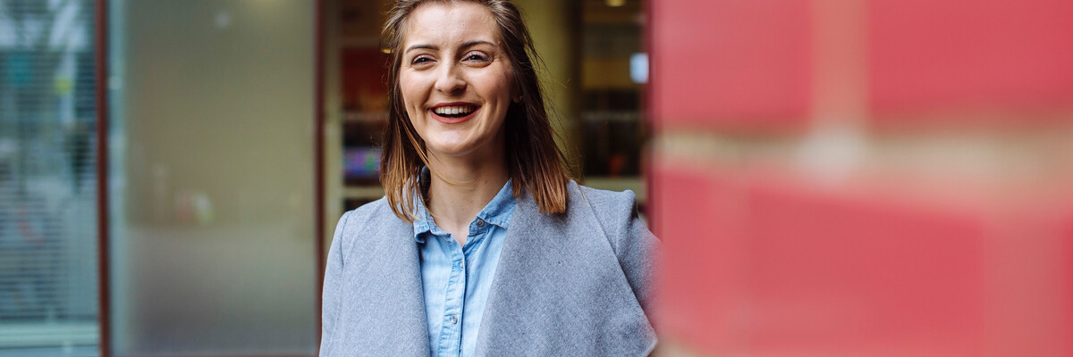 Smiling University of Portsmouth alumna
