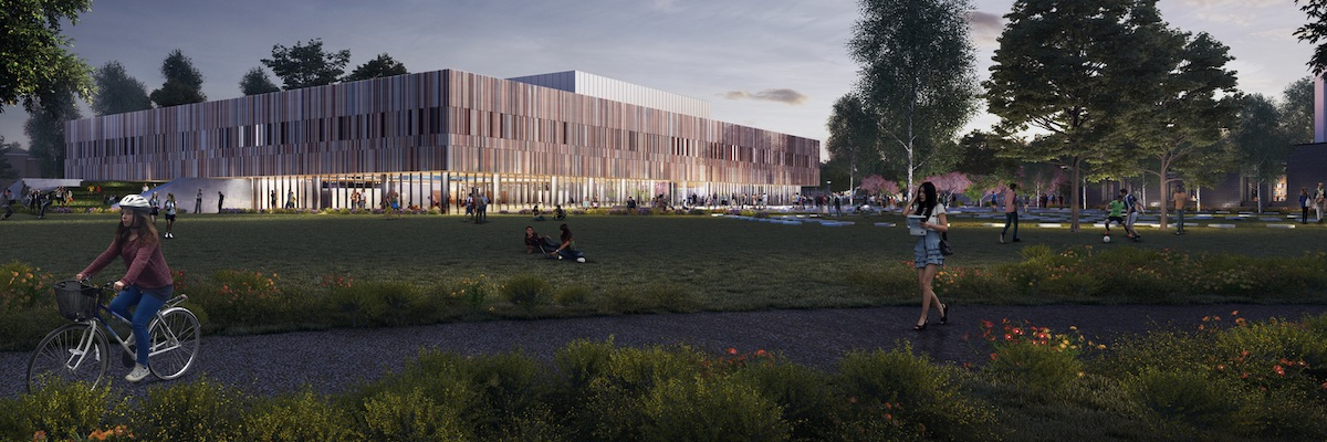 A CGI image of the new Ravelin Park Sports Centre