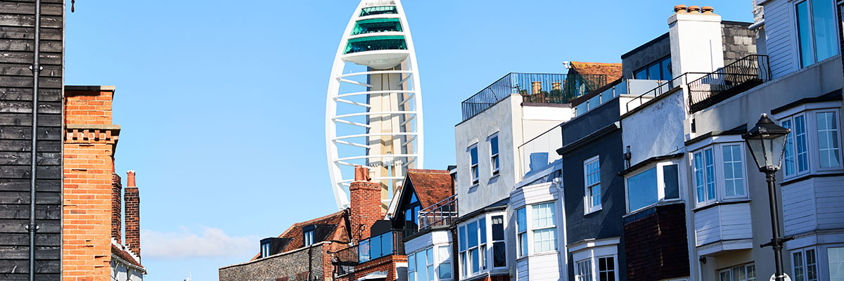 View of spinnaker tower