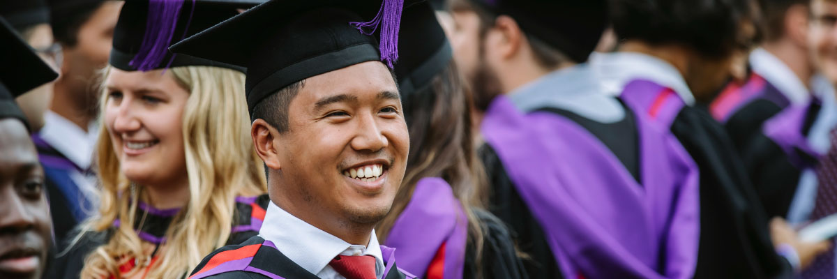 Man at graduation ready for recruitment