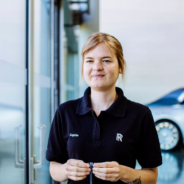 University of Portsmouth graduate Sophie Moore working at Rolls Royce