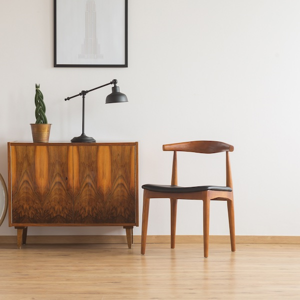 Mid-century modern chair and sideboard