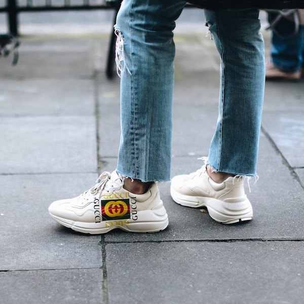 Man wearing Gucci trainers in London