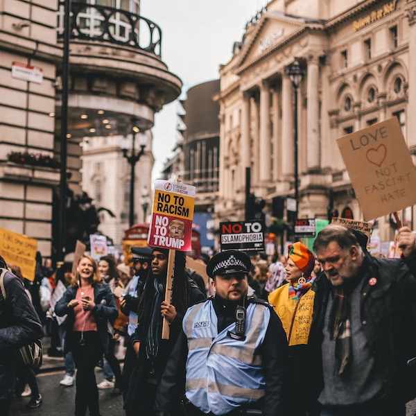 March against Donald Trump, London