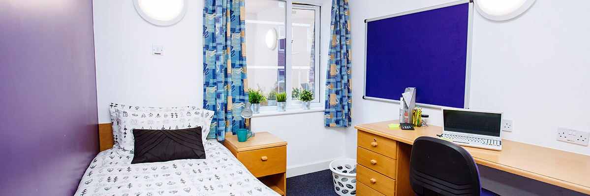 Bedroom in harry law hall