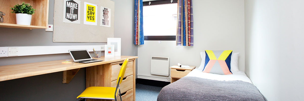 Bedroom in Rosalind Franklin Halls, Portsmouth