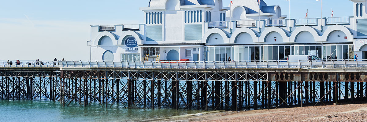 the South Parade pier in Portsmouth
