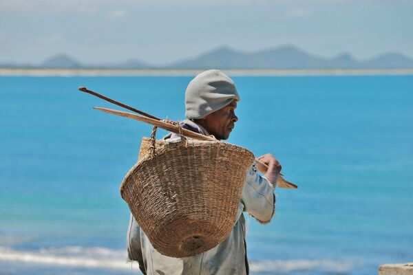 A fisherman in Fort Dauphin, Madagascar
